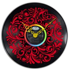 This clock pop up any #interior with its #vintage feel. The #traditional snowflake, laser cut in a #vinyl #record spiced up with a #colorful base, adds more joy to your #homedecor! #Memories of an era gone by tick-tocking through the present.