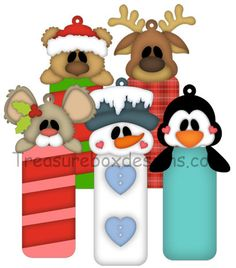 Christmas Tag Pals - Treasure Box Designs Patterns & Cutting Files (SVG,WPC,GSD,DXF,AI,JPEG)