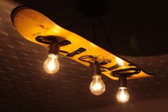 Skateboard Lampe, Deck Lampe von Hand und Holz (Casaschudo.de) auf DaWanda.com