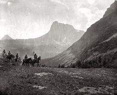 Riders crossing a mountain meadow. Montana. Early 1900s. | Flickr