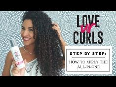 How-To Apply the Love Ur Curls All-in-One for Curly Hair Curly Hair Tips, Curly Hair Care, Short Curly Hair, Curly Hair Styles, Natural Hair Styles, Different Curls, Hair Meaning, Essential Oils For Hair, Types Of Curls