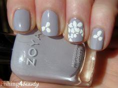 hydrangea nail art - Google Search