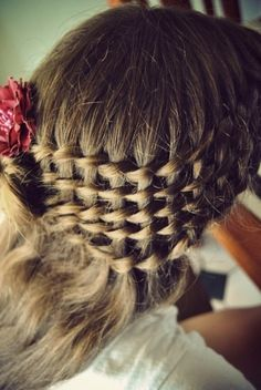 Weave from multiple waterfall braids--looks super hard but it's actually super easy.