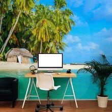 Tropical island a Wall Murals, Office Desk, Tropical, Island, Living Room, Furniture, Home Decor, Wallpaper Murals, Desk Office