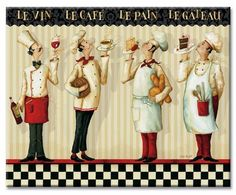A great addition for the kitchen with the Italian Chef or French Chef theme from… Chef Kitchen Decor, Kitchen Art, Kitchen Dinning, Kitchen Images, Kitchen Store, Diy Cutting Board, Glass Cutting Board, Decoupage Vintage, Decoupage Paper