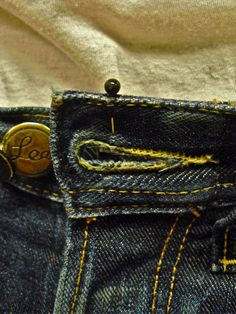 Timmy Persson making a pair of jeans