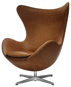 S. Utility, Fritz Hansen Egg Chair, Leather. Smoke Room and bedroom seating. $7,195.00 - i wish