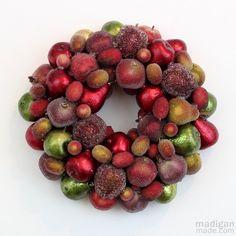 How to make an elegant fruit ornament wreath