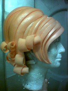 created for Frl Wommy Wonder in Juli 2013 Foam wig, made in 2008. Clarisa Clarc on stage. Clarisa Clarc...