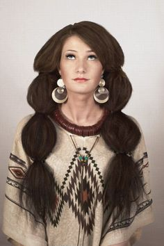 long brown crimped hair