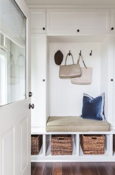 Camille Styles Home Tours - Marie's Timeless Craftsman Home - Marie Flanigan Interiors Classic Mudroom