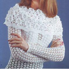 Crocheted sweater  made to order crochet handmade by dosiak