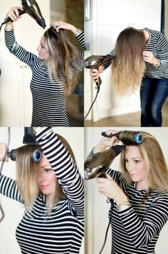 How to dry your hair + curl your hair for loose waves!! #curlingwand #hairgoals
