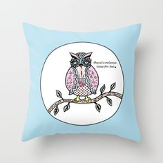 My 'There's Owlways Time for Tea' design is now available to purchase via Society6.com http://society6.com/CharlottePettleyDesign/Theres-Owlways-Time-For-Tea_Pillow