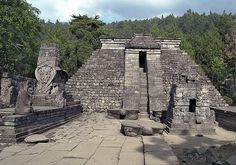 Candi Sukuh, 'Sukuh Temple' in Solo, Central Java. Has features similar to the pyramids of Mexico