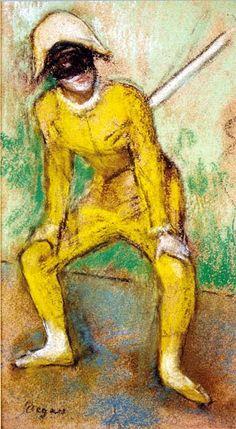 edgar degas - larlequin jaune1884-pastello-su-carta-fondation-bemberg-toulouse.