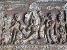Scenes from the life of Lord Buddha (the Jataka Tales) at the Ajanta caves - famous cave temple complex in Aurangabad, Maharashtra, India. Ajanta Ellora, Ajanta Caves, Stage Decorations, Flower Decorations, Sculptures, Lion Sculpture, Religious Rituals, Dry Plants, Buddhist Art