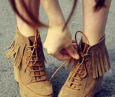 短靴,流苏靴