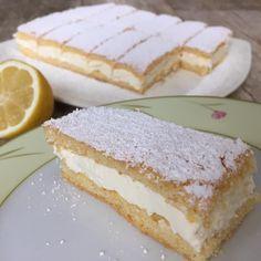Limon Dilimi Tarifi için Malzemeler Keki için; 2 adet yumurta 2 yemek kaşığı su 1 çay bardağı toz şeker 1 çay bardağı un 1 tatlı kaşığı nişasta 1 yemek kaşığ