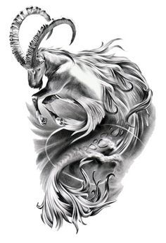 Capricorn Symbol Tattoo Fantasy Goat Fish Drawing | Just Free Image Download