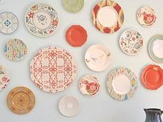 plastic plate wall, home decor, wall decor, Bought all the plastic plates at Target for about 2 each plus the glass bird plate from Pier1 it was too cute to pass up