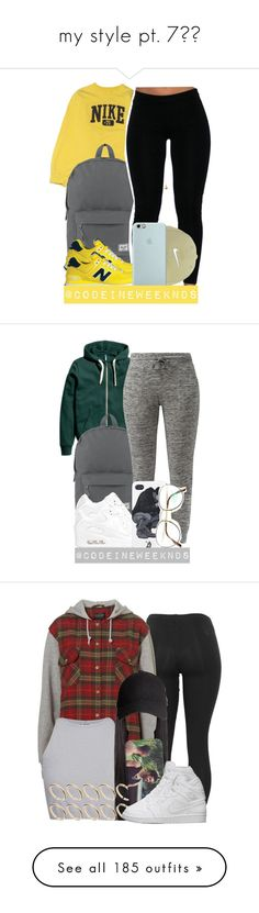 """""""my style pt. 7↗️"""" by mysquadtoowavy ❤ liked on Polyvore featuring NIKE, Herschel Supply Co., New Balance, Nike Golf, Benetton, Free People, ASOS, H&M, Puma and FiveUnits"""