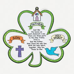 Color Your Own Shamrock Trinity Cutouts - OrientalTrading.com