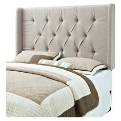 Crisp contemporary style makes this tufted wingback headboard a chic centerpiece for your master suite.   Product: Headboard...