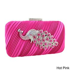 Jacki Design Peacock Brooch Hardcase Evening Clutch - Overstock™ Shopping - Great Deals on Jacki Design Clutches & Evening Bags