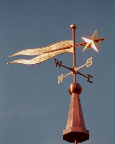 Banner Weathervane with Star by West Coast Weathervanes.