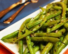 Grilled Green Beans Recipe  This was great! Perfect on the grill in a foil pouch. [Note: used about 1/2 tsp of dijon mustard instead of mustard powder and didn't use thyme because didn't have any.]