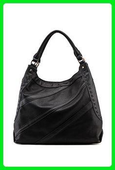 3b7b0da3ecf5 MKF Collection Cross-Stripe Hobo Bag ~ MKF Handbags ~ Hobo Handbag (Black)  - Hobo bags ( Amazon Partner-Link)