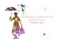 KUNSTDRUCK Mary Poppins Quote Abbildung Disney Home von SubjectArt