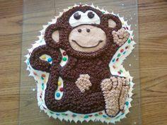 monkey cake with m&m's