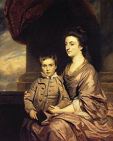 Elizabeth Countess of Pembroke and Her Son 1764-She was admired by George III in the early 1760s, becoming a Lady of the Bedchamber to his wife, Queen Charlotte. The King and Queen stayed for two nights with Henry and Elizabeth at Wilton House in 1778.