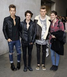 Pin for Later: This Week's Can't-Miss Celebrity Photos  The Vamps posed for a picture outside the BBC studios in London.