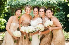 Cheery Gold Bridesmaids Dresses