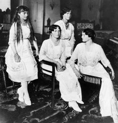 Anastasia, Olga, Maria and Tatiana in 1916.