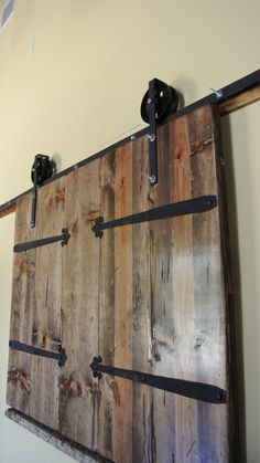 Handcrafted Barn Door With Iron Barn Door Roller Hardware. $1,000.00, Via  Etsy.