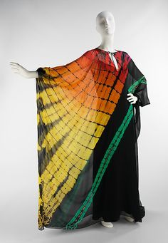Halston tie-dye evening dress from 1975