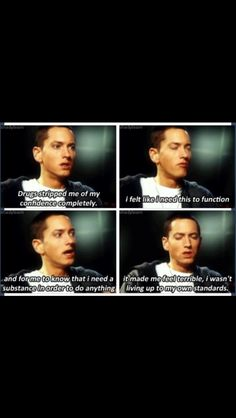 Eminem that is great. I hope that kids will listen to that.