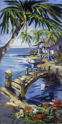 Fine art edition on canvas titled Island Path by Steve Barton