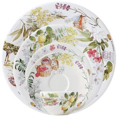 Gracious Style specializes in high end furnishings for your home, including fine linens, luxury dinnerware, and special gifts. Ceramic Plates, Ceramic Pottery, Decorative Plates, Casual Dinnerware, China Dinnerware, Ceramica Artistica Ideas, Lavender And Lemon, Earthenware, Tea Cups