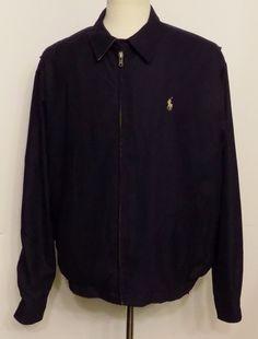 Polo Ralph Lauren Mens Bi-Swing Jacket Navy Blue Khaki Pony SizeX-Large #PoloRalphLauren #BiSwingWindbreaker