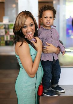 Tia and her son Cree looks adorbs even while doing the stinky face