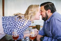 Craft beer engagement session in Raleigh, NC. www.saraloganphotography.com