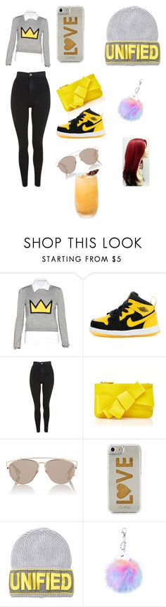 """""""School day4"""" by cuttiewithabooty on Polyvore featuring Alice + Olivia, Topshop, Delpozo, Christian Dior, Edie Parker and Versace"""