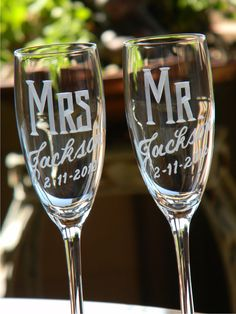 Classic. http://www.etsy.com/listing/91401998/personalized-wedding-mr-mrs-champagne?ref=sc_20