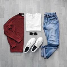 pulls for men inspiration grid style outfits mens outfit men's fashion style inspiration casual style Casual Outfits, Men Casual, Fashion Outfits, Fashion Trends, Fashion Clothes, Fashion Ideas, Daily Fashion, Mens Fashion, Mode Man
