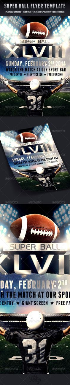 Fantasy Football Draft Party Flyer Template | Football Draft Party
